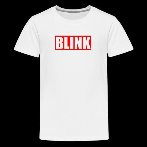 BLINK Red Box Logo - Kids' Premium T-Shirt