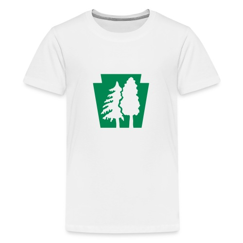 PA Keystone w/trees - Kids' Premium T-Shirt