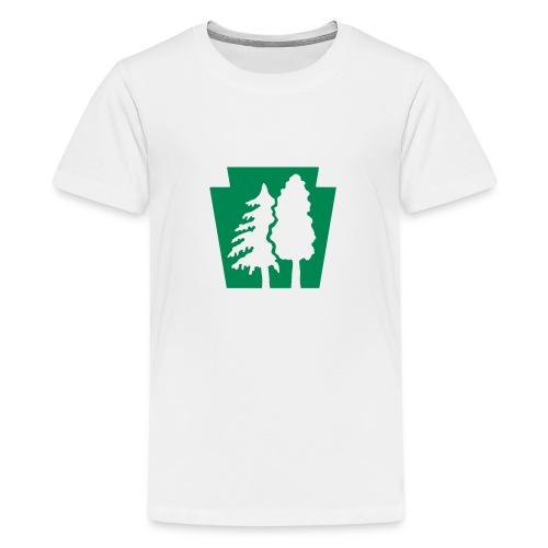 PA Keystone w/trees - Kids' Premium T-Shirt
