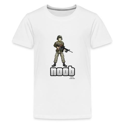 n00b design v1 with logo png - Kids' Premium T-Shirt