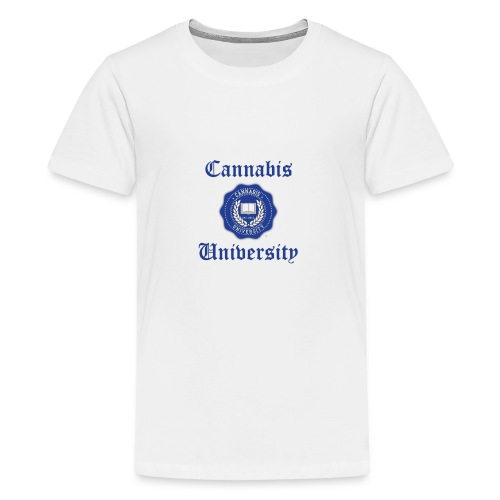 Cannabis University Text - Kids' Premium T-Shirt