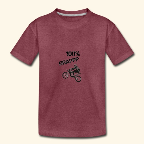 100% BRAPPP (Black and White) - Kids' Premium T-Shirt