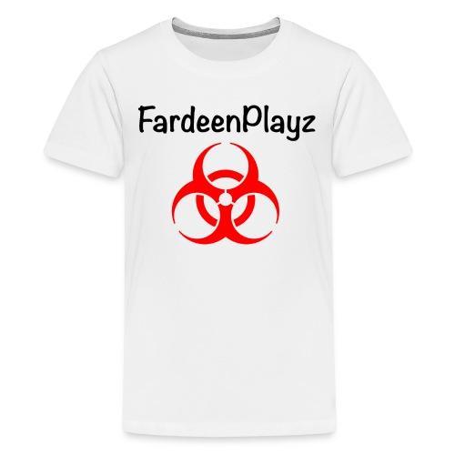 FardeenPlayz At Top W/ Logo - Kids' Premium T-Shirt
