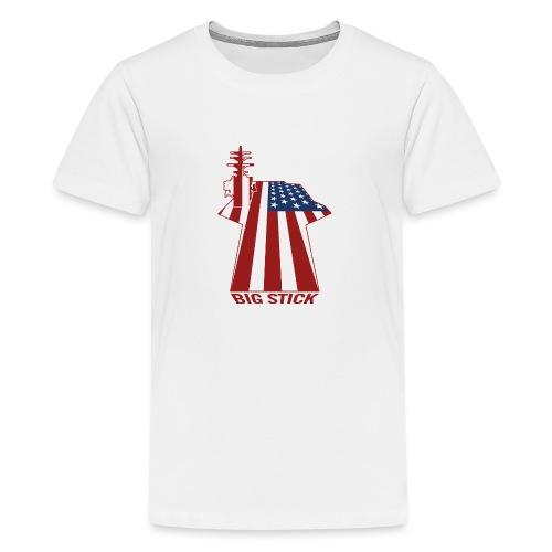 Big Stick Patriotic U.S. Aircraft Carrier - Kids' Premium T-Shirt