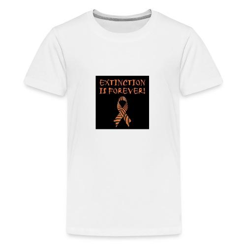 Extinction is Forever awarness logo - Kids' Premium T-Shirt