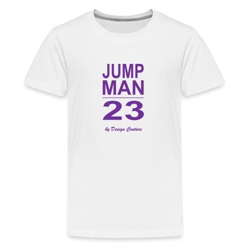 JUMP MAN 23 PURPLE - Kids' Premium T-Shirt