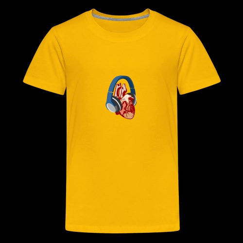 Heartbeats for Music Headphones - Kids' Premium T-Shirt