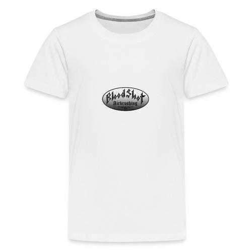 BloodShot Logo Black/White - Kids' Premium T-Shirt
