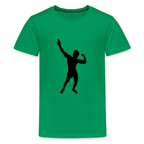 Zyzz Silhouette vector - Kids' Premium T-Shirt
