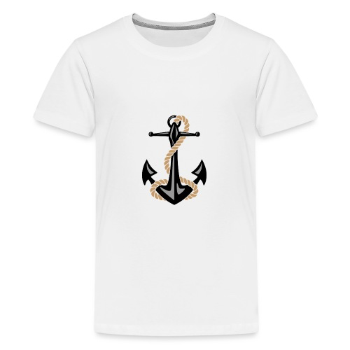 Classic Nautical Anchor and Rope Design - Kids' Premium T-Shirt