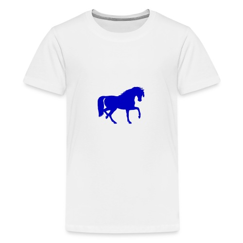 blue horse hoodie - Kids' Premium T-Shirt
