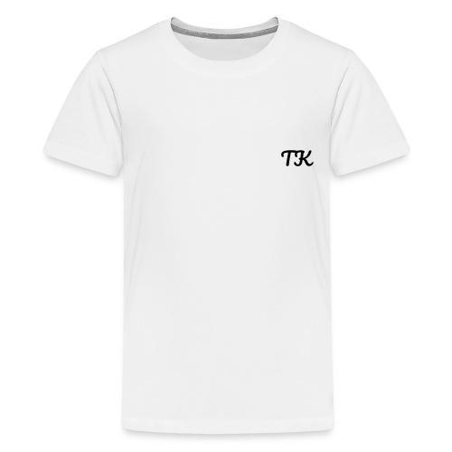 Thom Kenobi clothing TK initials in pacifico font - Kids' Premium T-Shirt