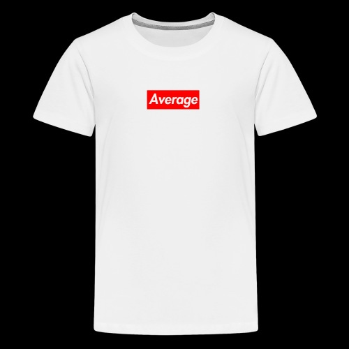 Average Supreme Logo Mockup - Kids' Premium T-Shirt