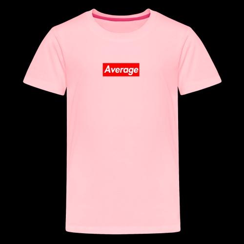 Average Supreme Logo Mockup - Kids' Premium T-Shirt