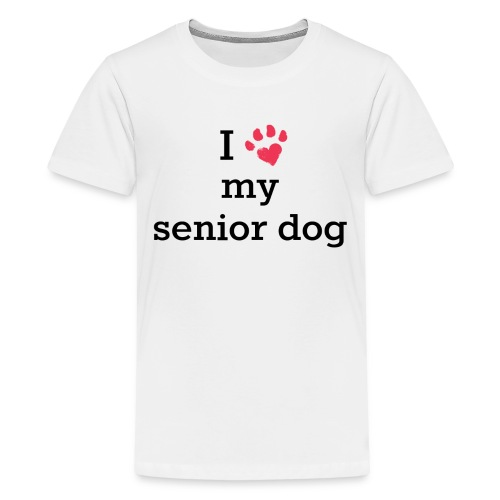 I love my senior dog - Kids' Premium T-Shirt