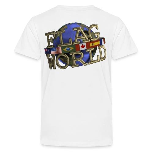 Flagworld Pixel Logo 3000pxwide - Kids' Premium T-Shirt