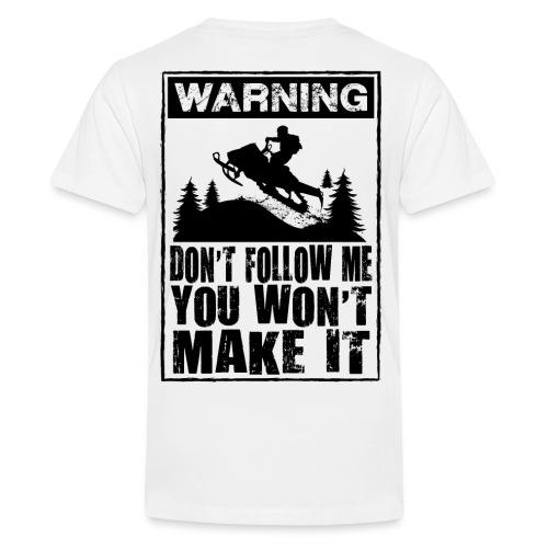 Snowmobiling Sign - Kids' Premium T-Shirt