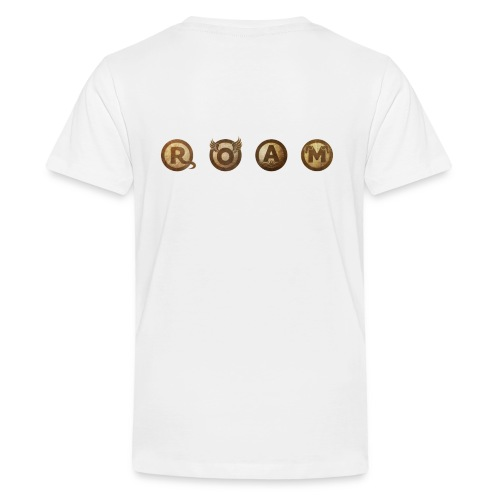 ROAM letters sepia - Kids' Premium T-Shirt