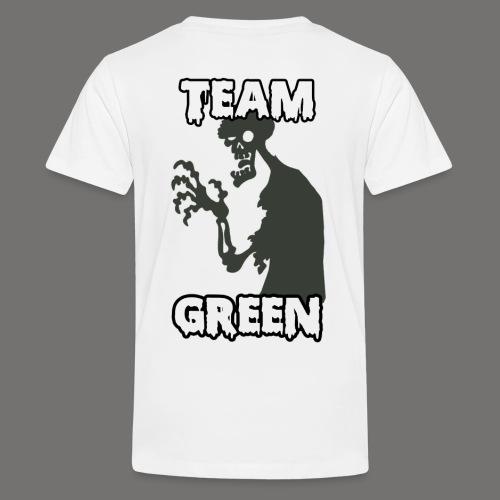 Team Green Zombie 1 png - Kids' Premium T-Shirt