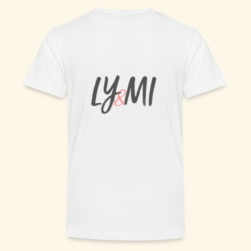 LYMI Logo Horizontal Grey - Kids' Premium T-Shirt