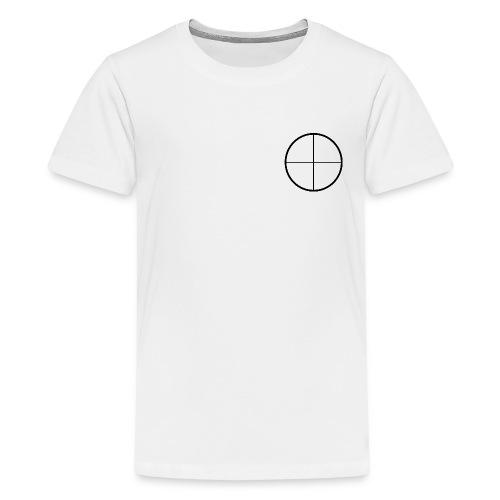 White Mens Headshot Tee - Kids' Premium T-Shirt