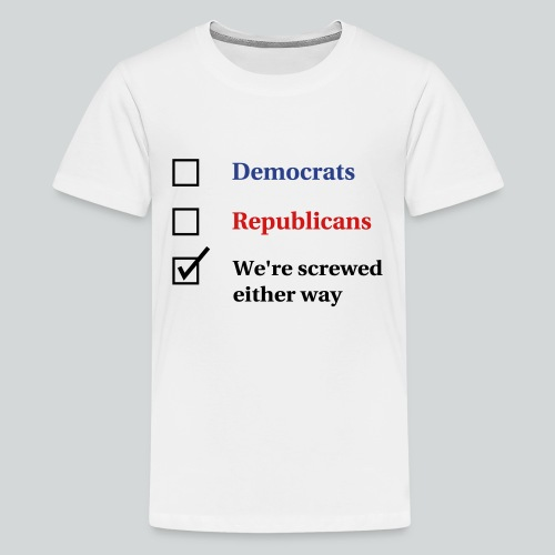 Election Ballot - We're Screwed - Kids' Premium T-Shirt