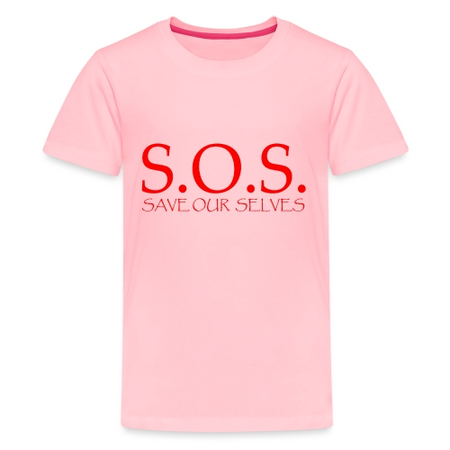 sos no emotion red - Kids' Premium T-Shirt