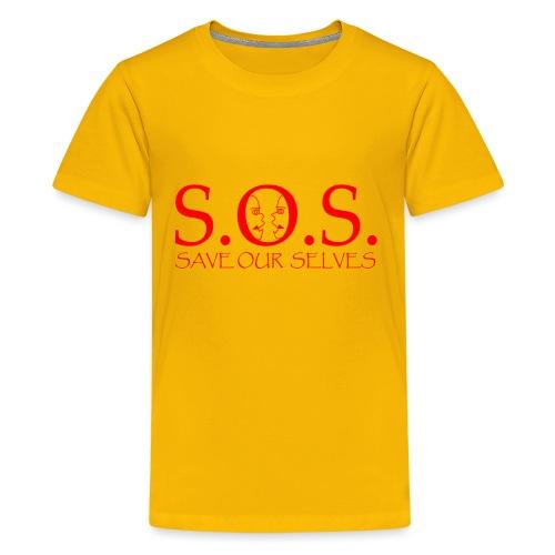 sos red - Kids' Premium T-Shirt
