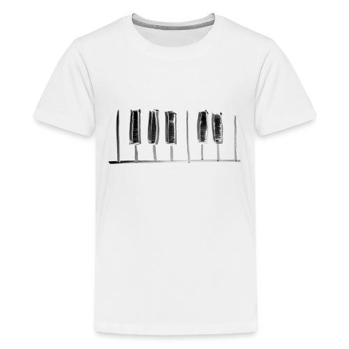 Hand Drawn Minimal Piano Design   Piano Keys - Kids' Premium T-Shirt