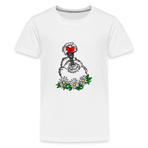 Silkie Showgirl Chicken Hen - Kids' Premium T-Shirt