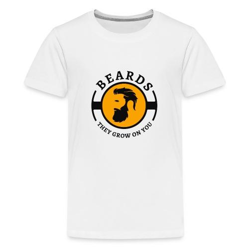 Beards, they grow on you | Minimal Orange Design - Kids' Premium T-Shirt