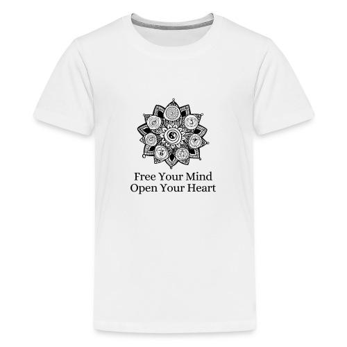 Free Mind, Open Heart - Kids' Premium T-Shirt