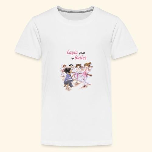Layla gaat op ballet Cover - Kids' Premium T-Shirt