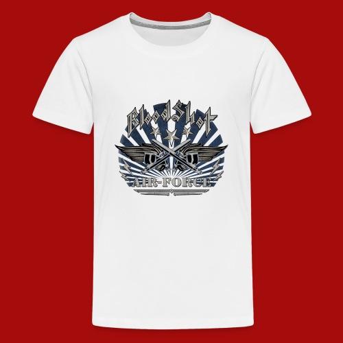 BloodShot Air Force with black - Kids' Premium T-Shirt
