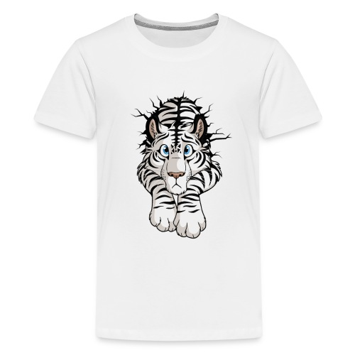 STUCK Tiger White (double-sided) - Kids' Premium T-Shirt