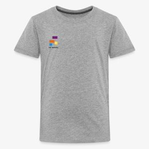 White with Colorful Shapes Abstract Logo 2 - Kids' Premium T-Shirt