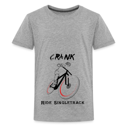 crank-singletrack-graphic - Kids' Premium T-Shirt