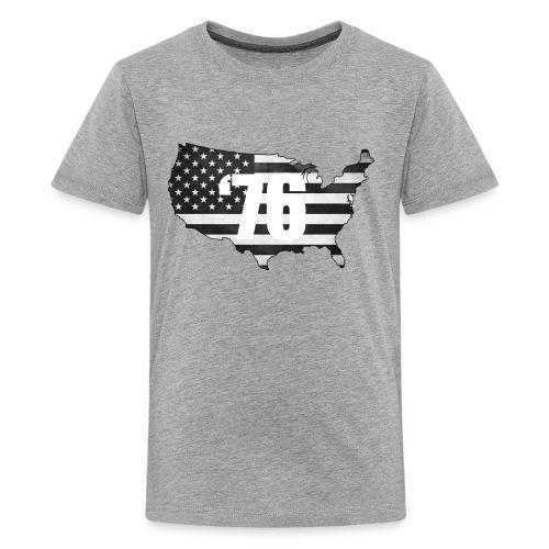 USA Black and White - Kids' Premium T-Shirt