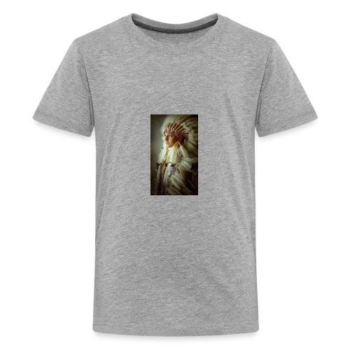61275d5951616afcecbe922eb2a98b12 native american - Kids' Premium T-Shirt