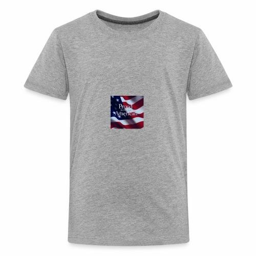 770764ed8cfed391ab7ad85ff8b8f2bb american flag am - Kids' Premium T-Shirt