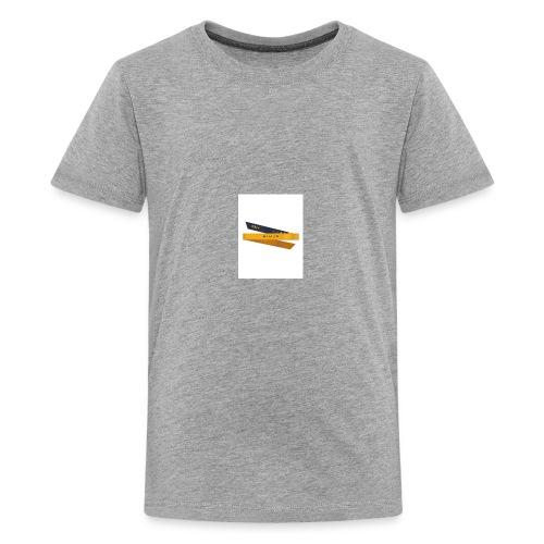 Ninja Headband Katana Yellow Folded 01 large - Kids' Premium T-Shirt