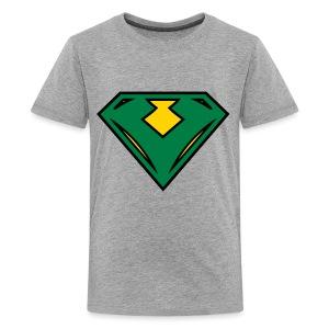 Vegan superhero - Green - Kids' Premium T-Shirt