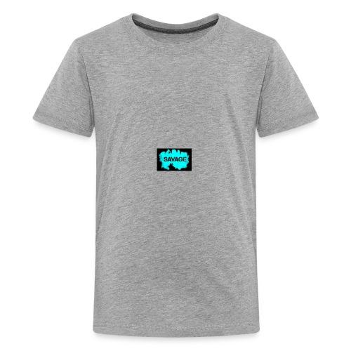 savage logo on sweter - Kids' Premium T-Shirt