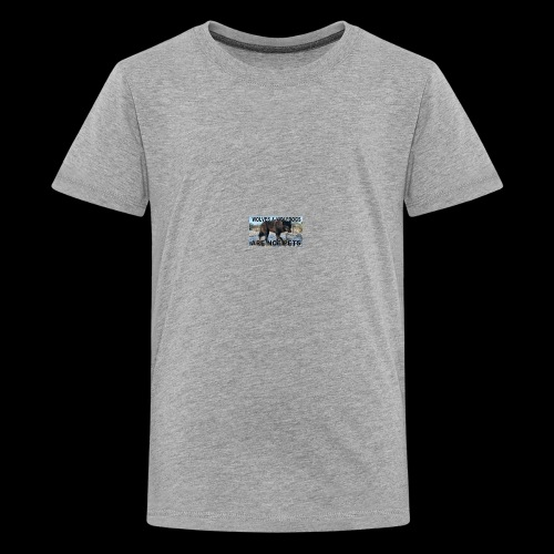 wolves and wolfdogs are not pets - Kids' Premium T-Shirt