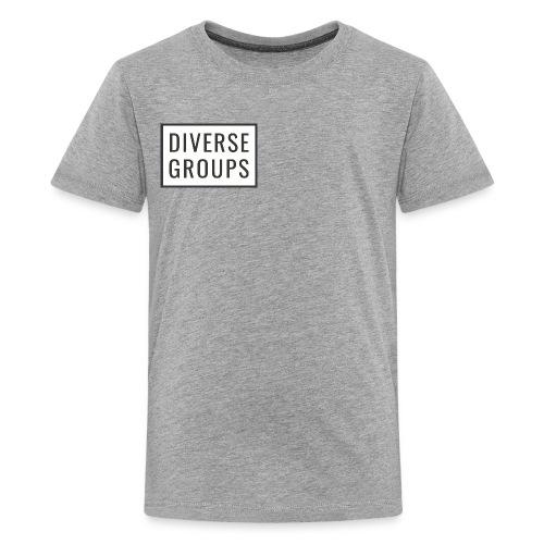 DG Logo White - Kids' Premium T-Shirt