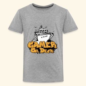 Gamer On Deck Graphic - Version 1-1 - Kids' Premium T-Shirt