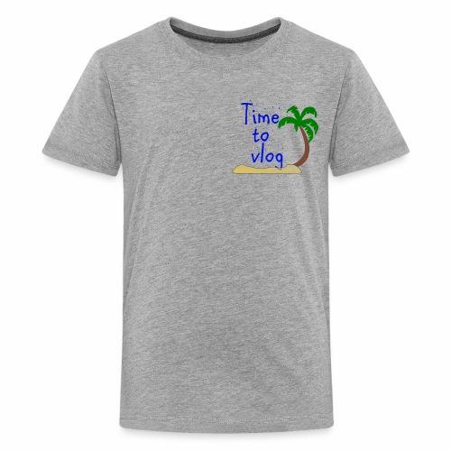 Time to Vlog - Creel Vlogs - Kids' Premium T-Shirt