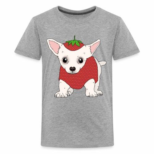 Chihuahua in a Strawberry Costume - Kids' Premium T-Shirt