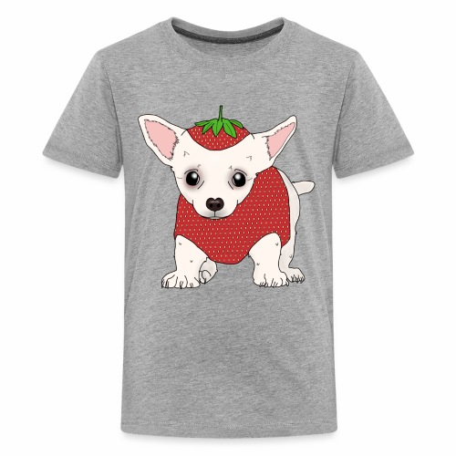 Chihuahua in a Strawberry Costume - Kids' Premium T-Shirt
