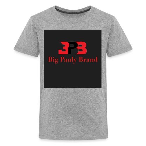 Big Pauly Brand Red Print With Logo - Kids' Premium T-Shirt